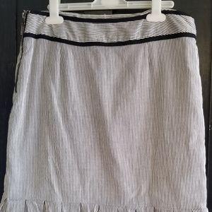 Black and White stripe Stretch Pencil Skirt